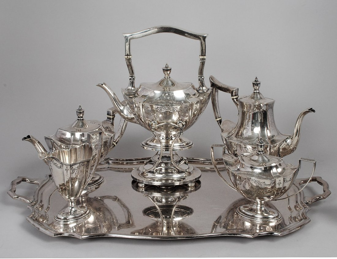 SIX PIECE STERLING SILVER TEA AND COFFEE SERVICE