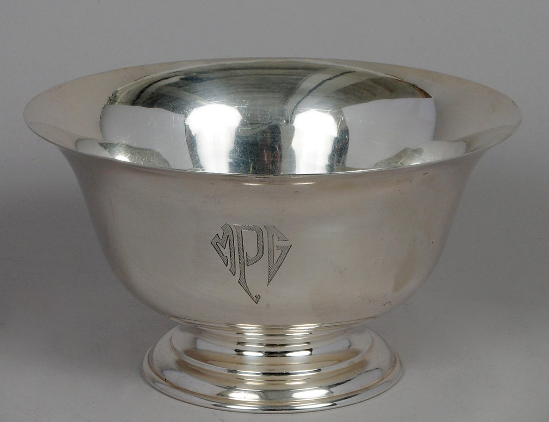STIEFF STERLING SILVER FOOTED BOWL