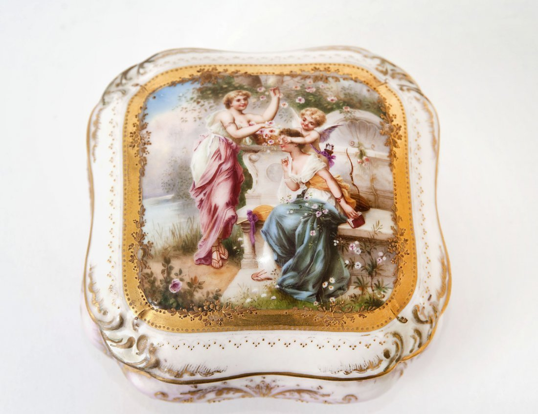 LIMOGES PORCELAIN BOX AND COVER