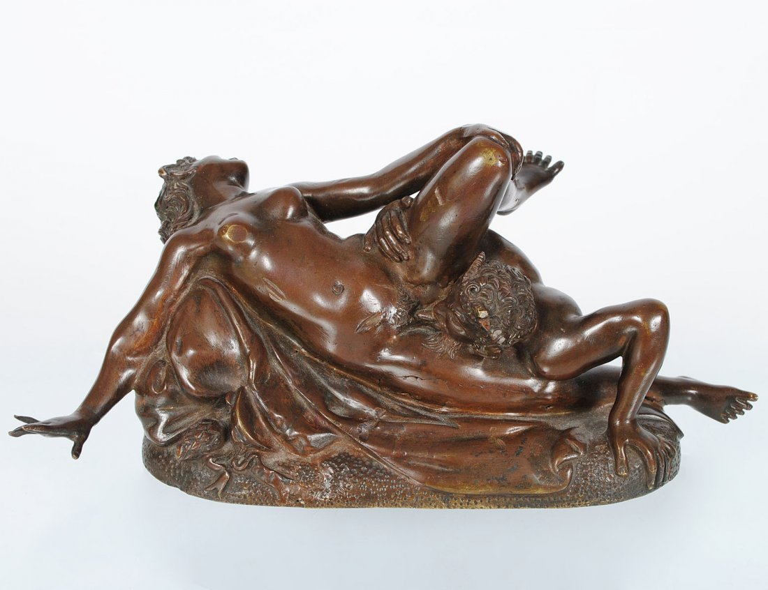 PATINATED BRONZE EROTIC GROUP