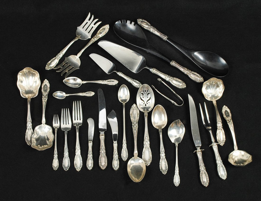 TWO HUNDRED, FORTY-THREE PIECE STERLING SILVER PART FLA