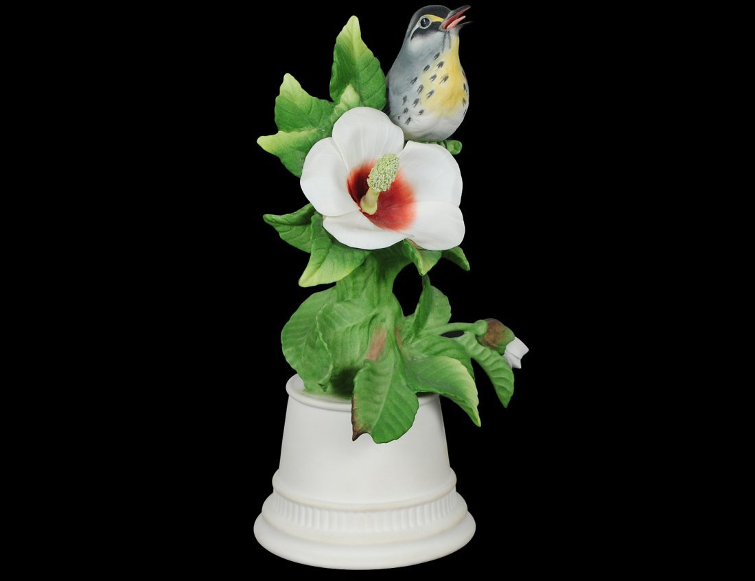 BOEHM PORCELAIN YELLOW THROATED WARBLER