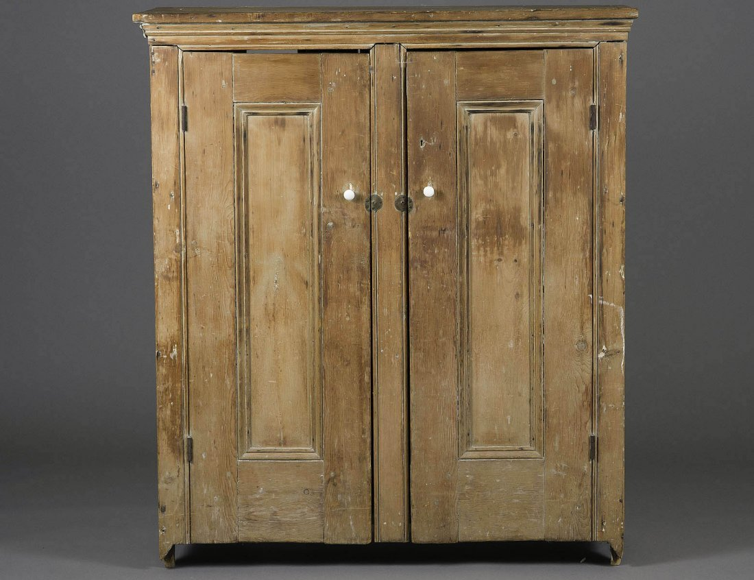PRIMITIVE COUNTRY PINE JELLY CUPBOARD