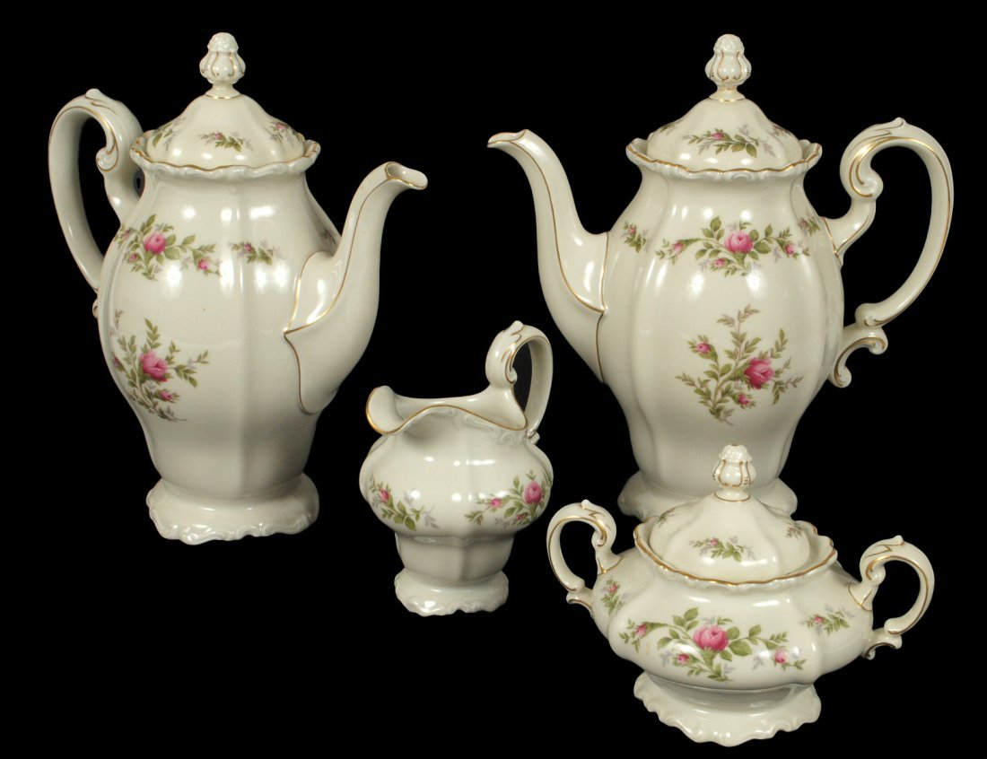 FOUR PIECE ROSENTHAL PORCELAIN TEA AND COFFEE SERVICE