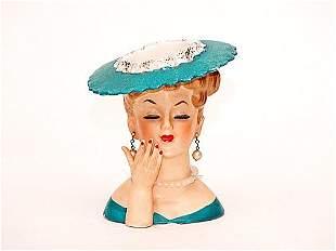 1968 Napco Ladies Head Vase