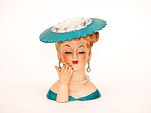 1: 1968 Napco Ladies Head Vase