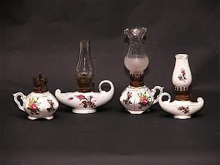 Collection of Five (5) Mini Kerosene Lamps
