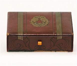 Art Deco Jewelry Box with Bakelite Pull