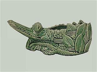 McCoy Pottery Alligator Planter