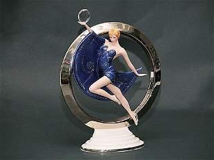 """Franklin Mint Porcelain Art Deco Figure """""""