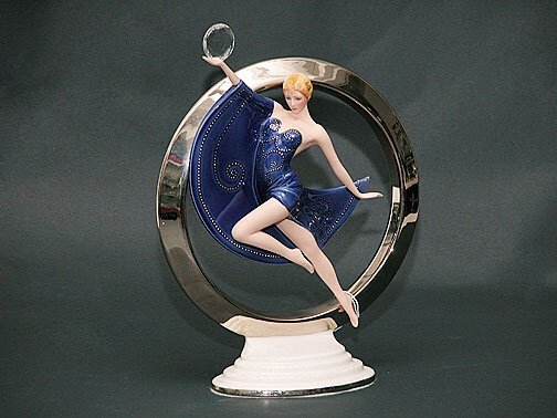 12: Franklin Mint Porcelain Art Deco Figure ""