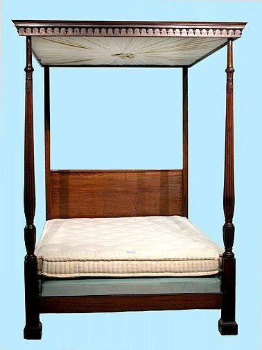 258: Ralph Lauren 19C English 4 Poster Bed Ca