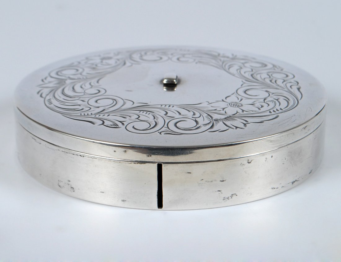 STERLING SILVER BOX AND COVER