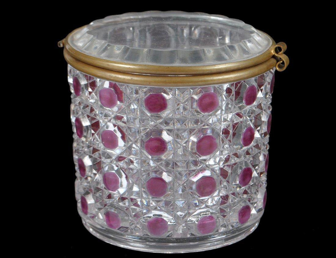BACCARAT GLASS DRESSER BOX