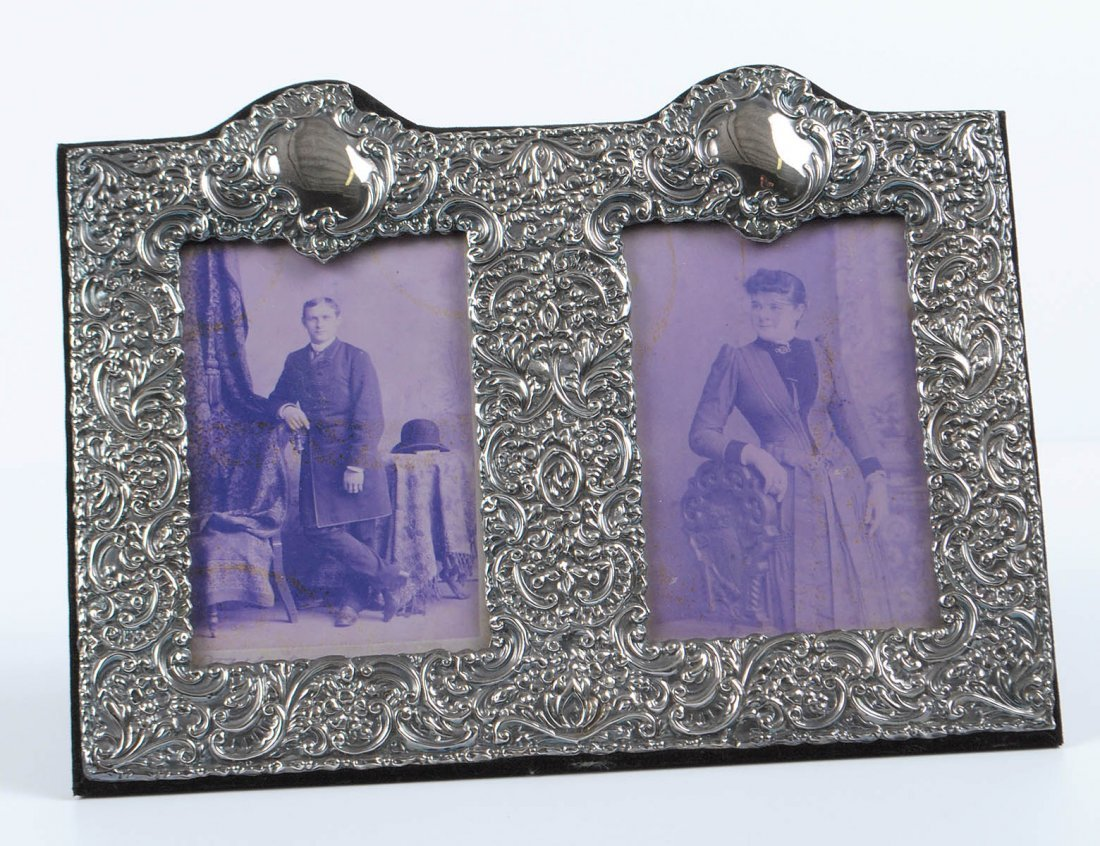 STERLING SILVER DOUBLE PHOTOGRAPH FRAME