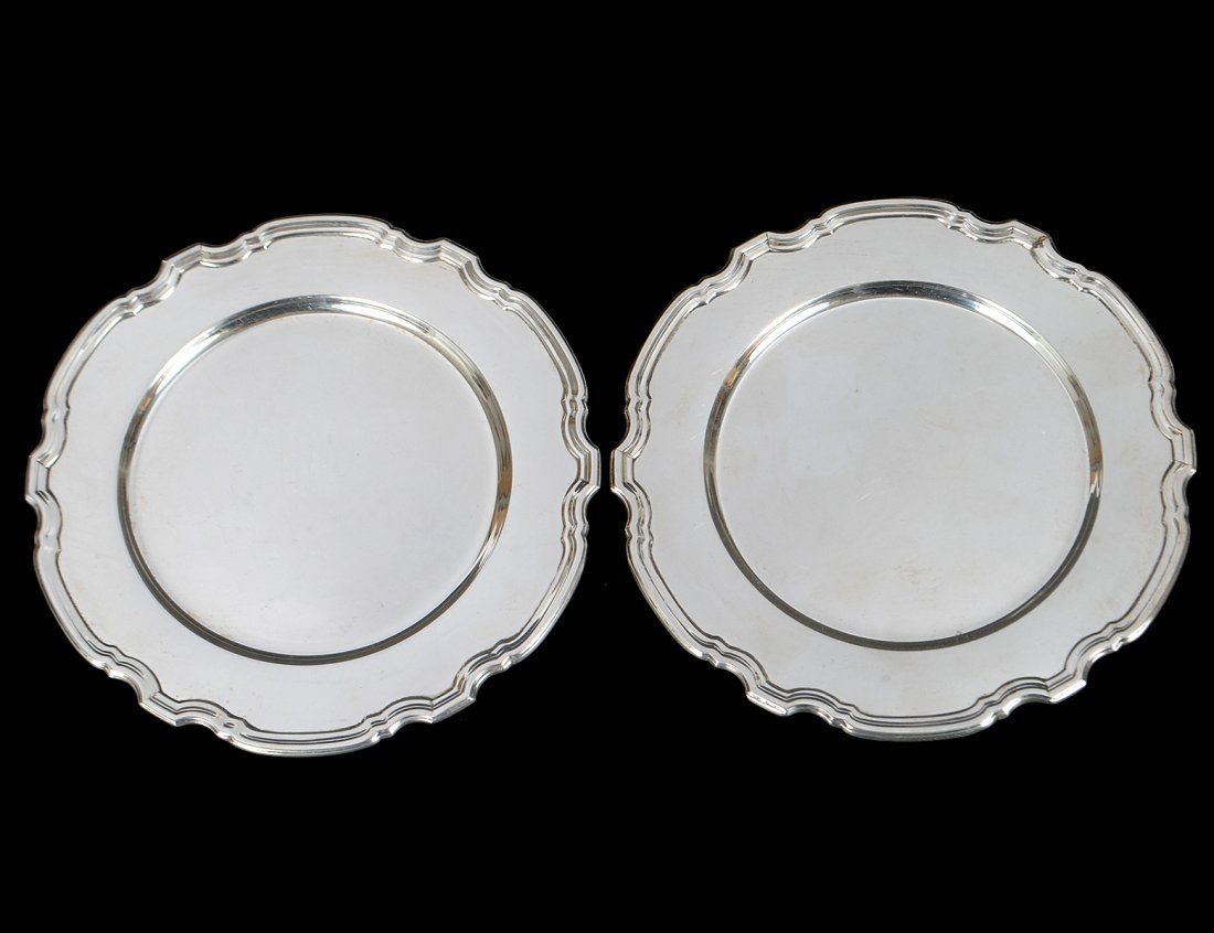 PAIR OF TIFFANY & CO. STERLING SILVER BREAD AND BUTTER