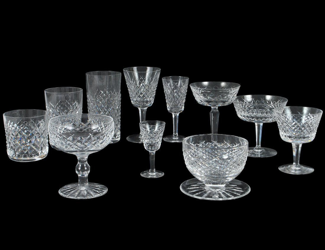 SEVENTY-TWO PIECE WATERFORD CRYSTAL PART STEMWARE SET