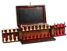 VICTORIAN BURL WALNUT GAMES COMPENDIUM