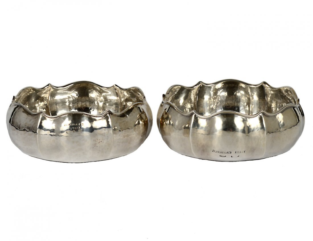 PAIR OF BUCCELLATI STERLING SILVER BOWLS