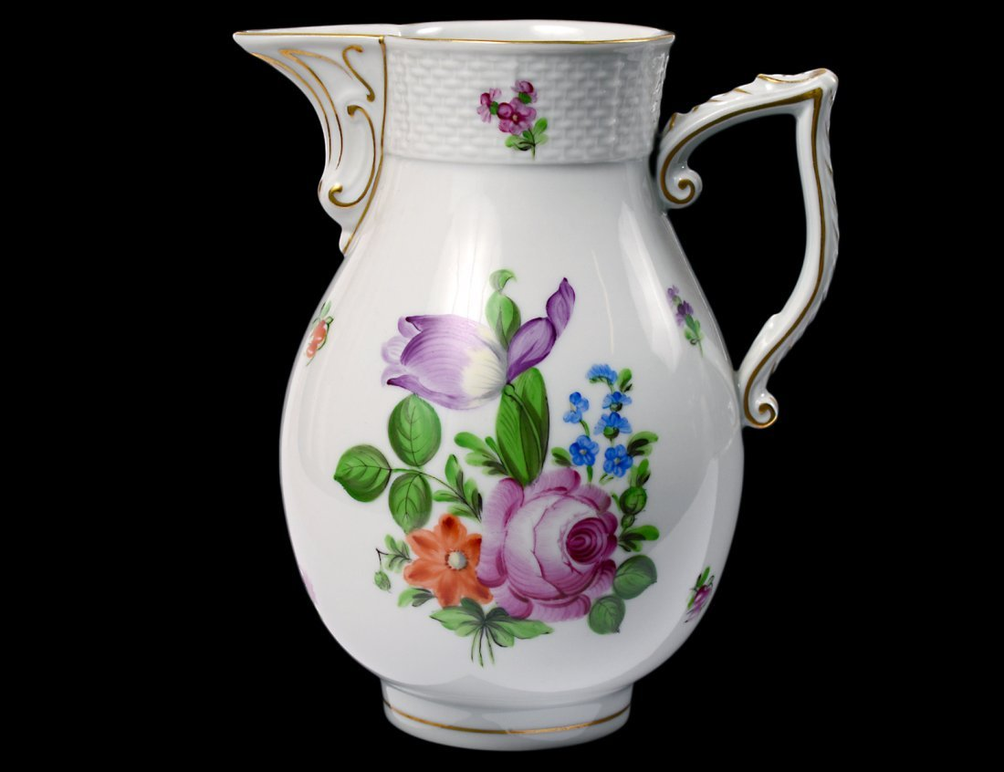 HEREND PORCELAIN PITCHER