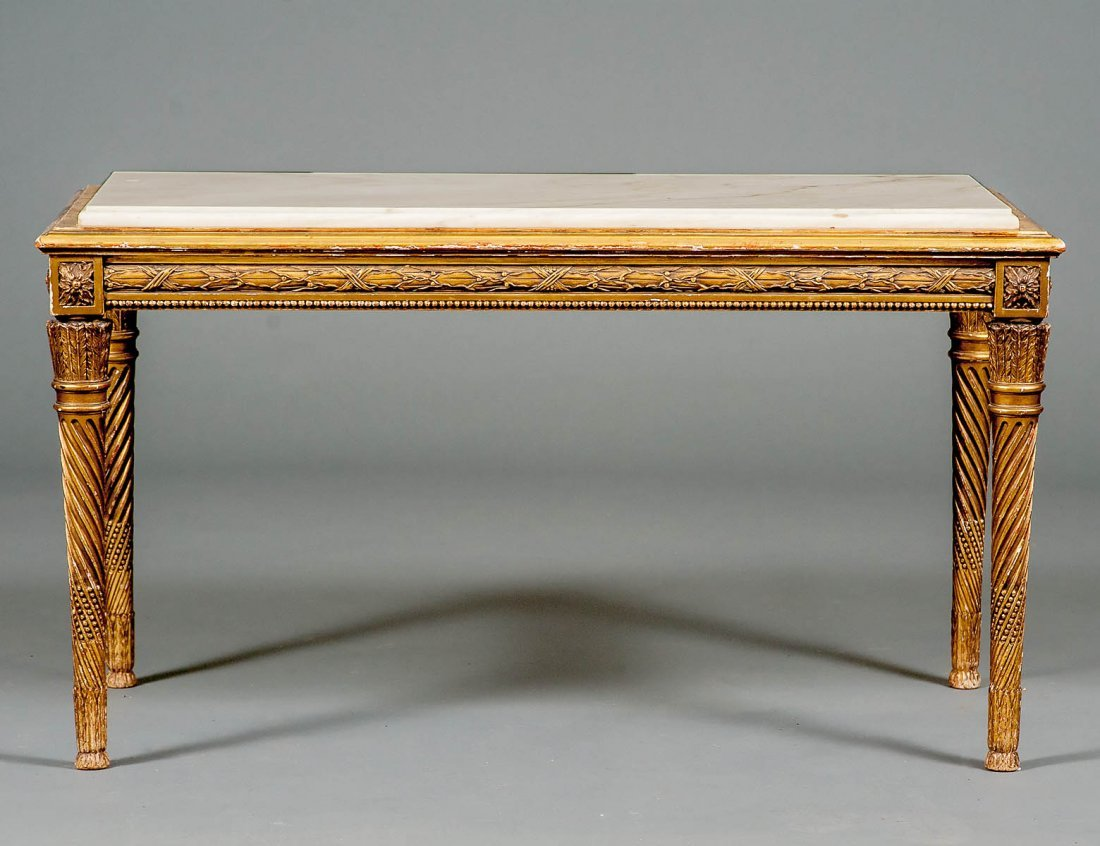NEO-CLASSICAL STYLE GILTWOOD LOW TABLE