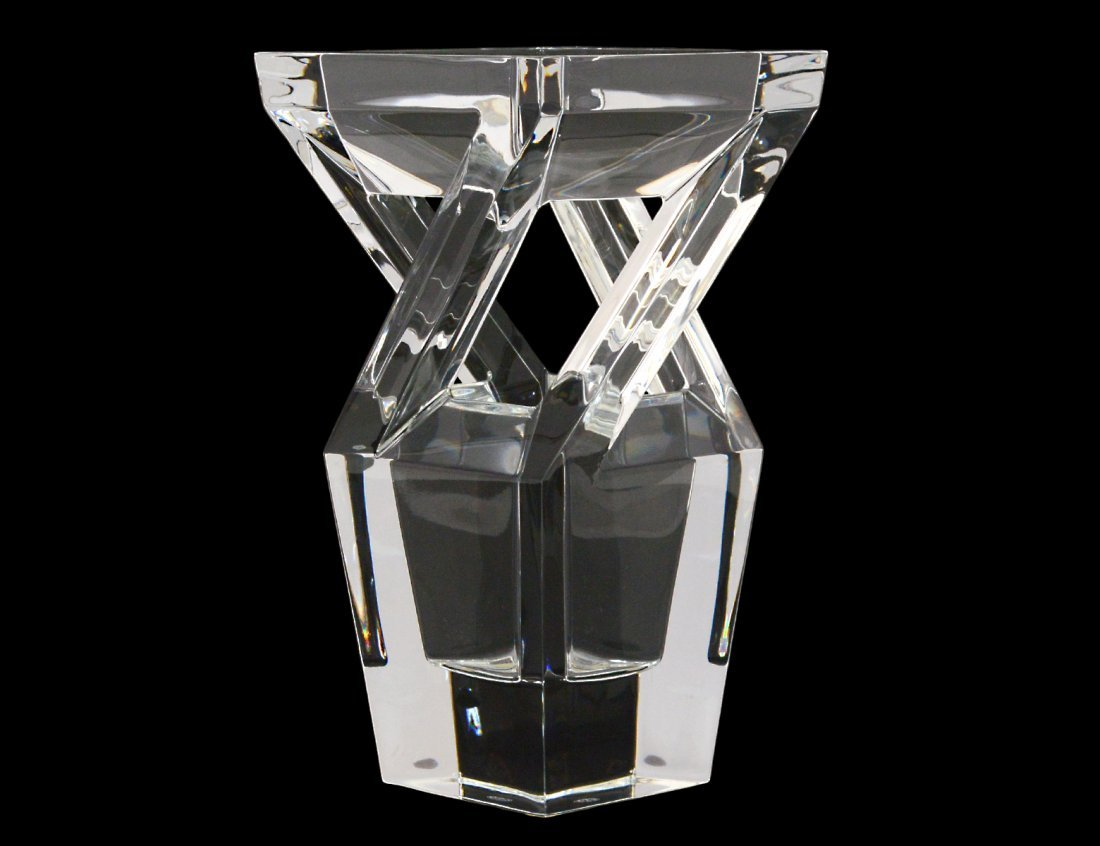 BACCARAT CRYSTAL ARCHITECTURE VASE