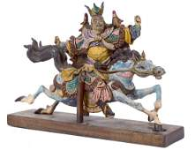 MING POTTERY ROOF ORNAMENT