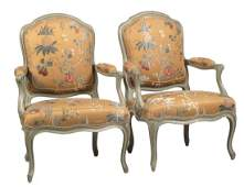 IMPORTANT PAIR OF BEECHWOOD FAUTEUILS BY LOUIS FALCONET