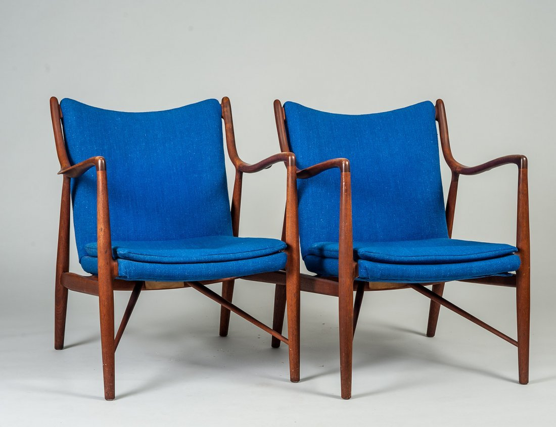 PAIR OF FINN JUHL MODEL 45 ARM CHAIRS