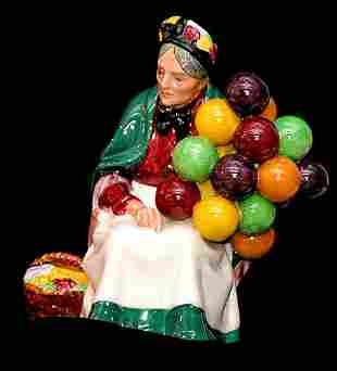 """Royal Doulton Figurine """"The Old Balloon S"""