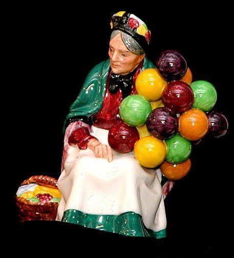 """12: Royal Doulton Figurine """"The Old Balloon S"""