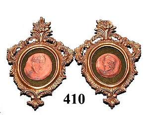 Two (2) Framed Early 20th Century Cameos