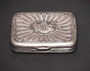 Sterling Silver Art Nouveau Hinged Box