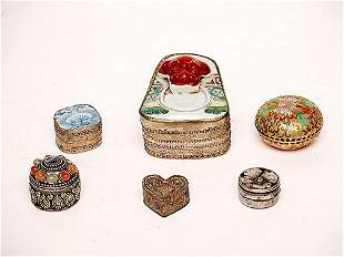 Collection of Six (6) Silverplate Boxes