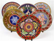 GROUP OF SIX ROSENTHAL PORCELAIN CHRISTMAS PLATES