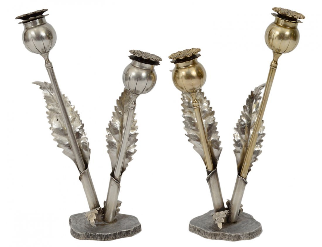 PAIR OF M. BUCCELLATI STERLING SILVER SHAKERS