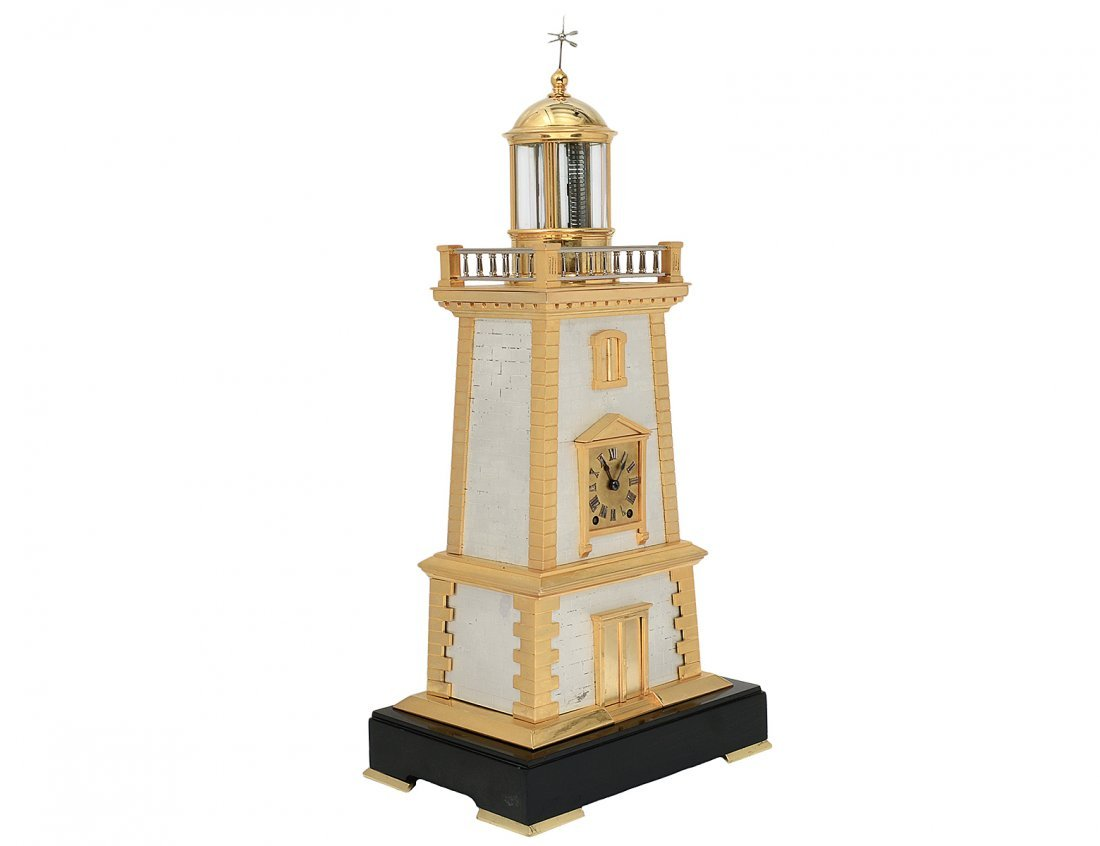 RARE FRENCH INDUSTRIAL LIGHTHOUSE CLOCK