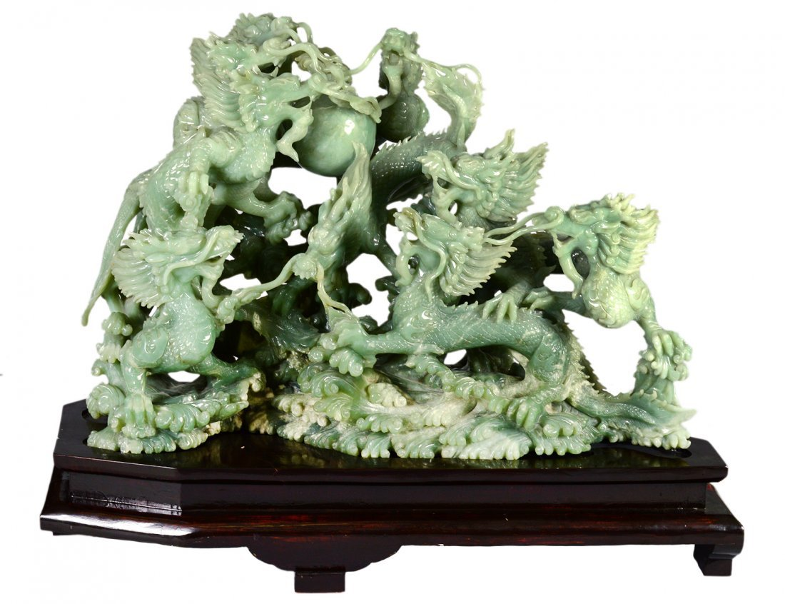 OUTSTANDING CARVED JADE GROUP