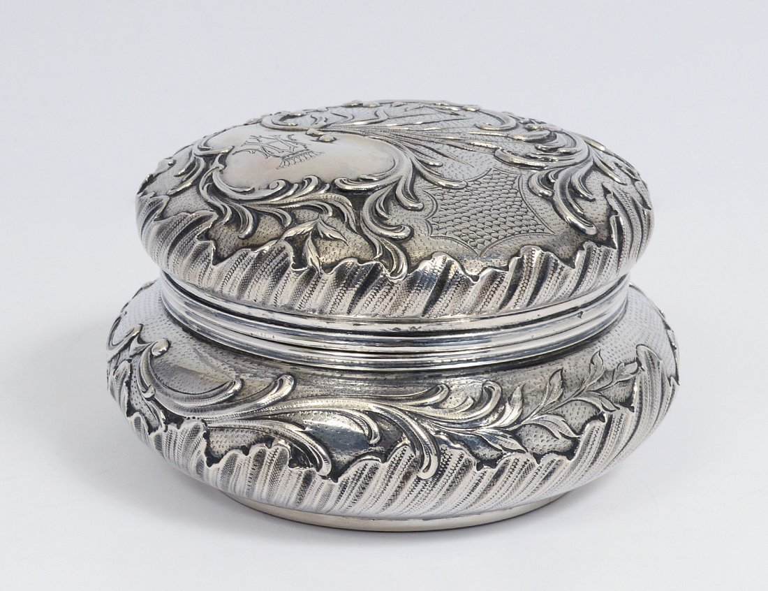 SILVER BOX AND COVER