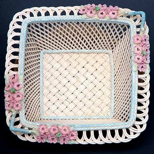 12: Belleek Painted and Flowered Melvin Basket
