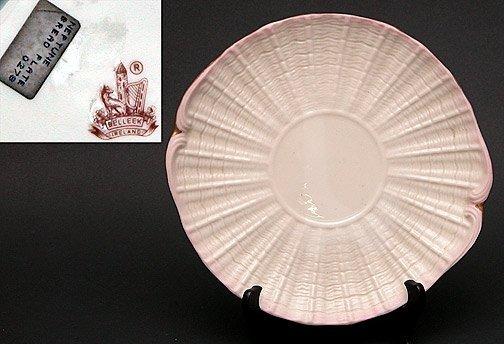 14: Belleek Painted Neptune Bread Plate