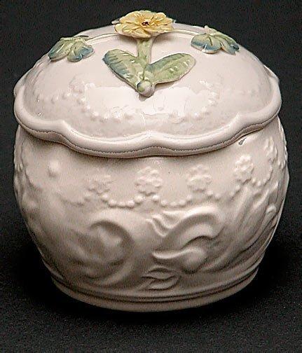 16: Belleek Painted and Flowered Covered Primrose Trink