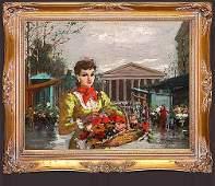 129 Francois Gerome French b1895  OC La Place de