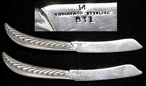 502: 2 Tiffany & Company Sterling Silver Pate Knives