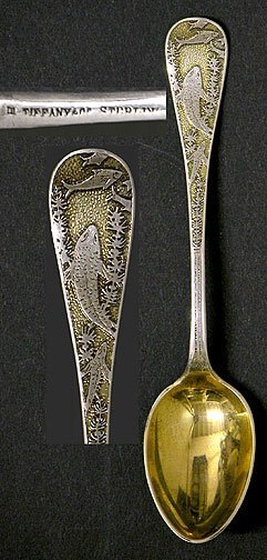 506: Rare Tiffany & Co Sterling Silver Coffee Spoon Eng