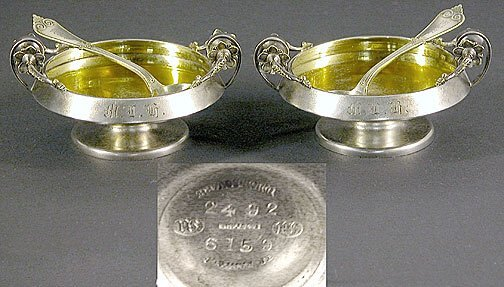 520: Pair of Tiffany & Co Sterling Silver Master Salt D