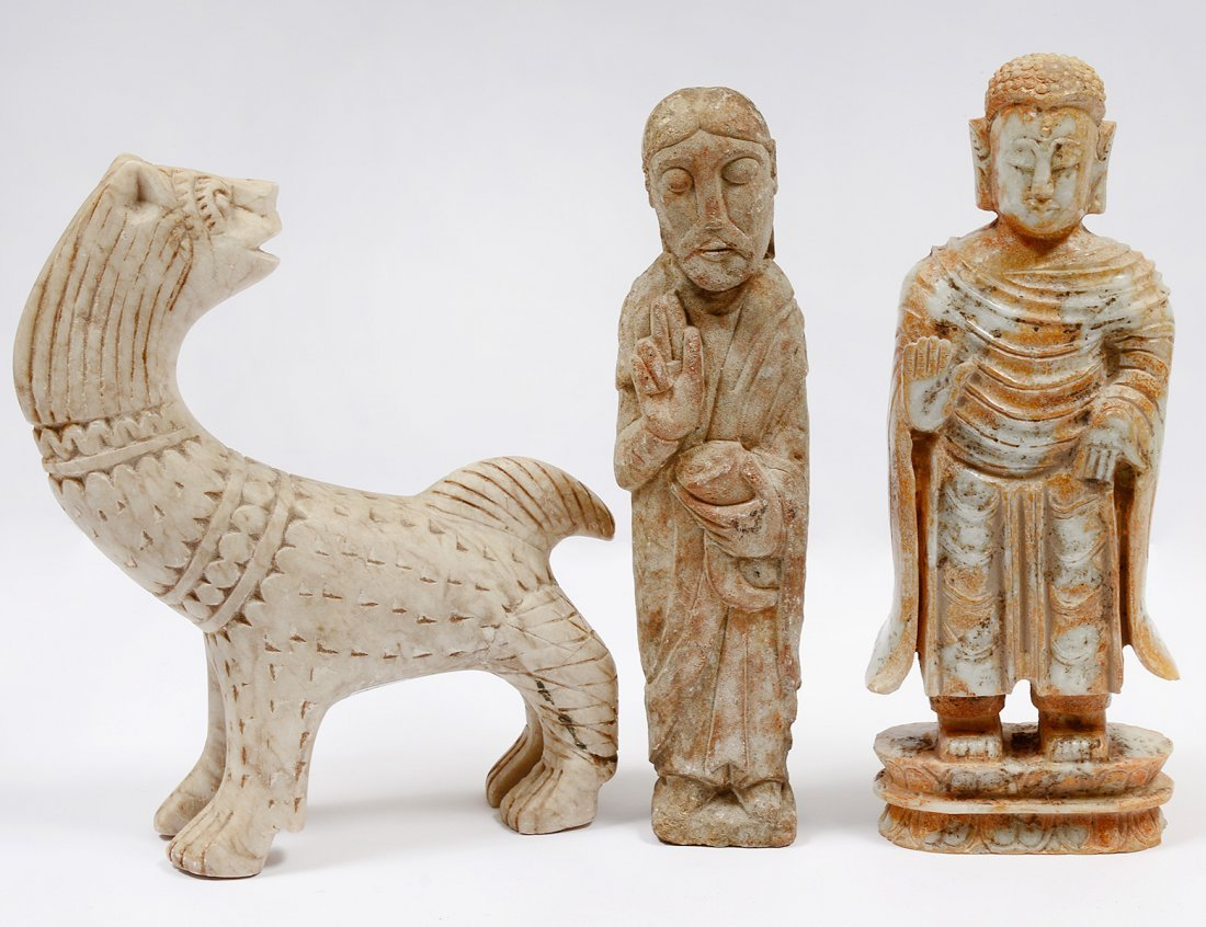 GROUP OF THREE FIGURES