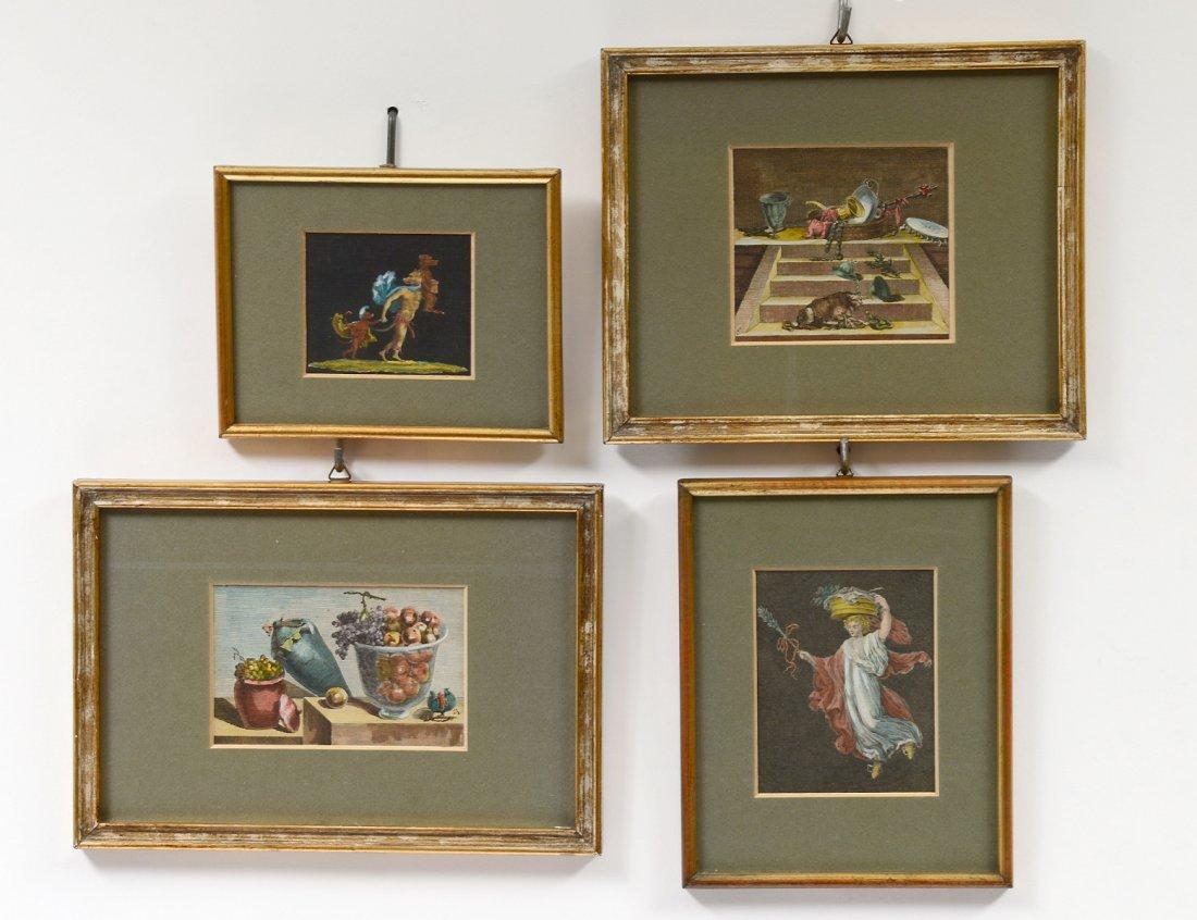 GROUP OF FOUR ITALIAN ART PRINTS