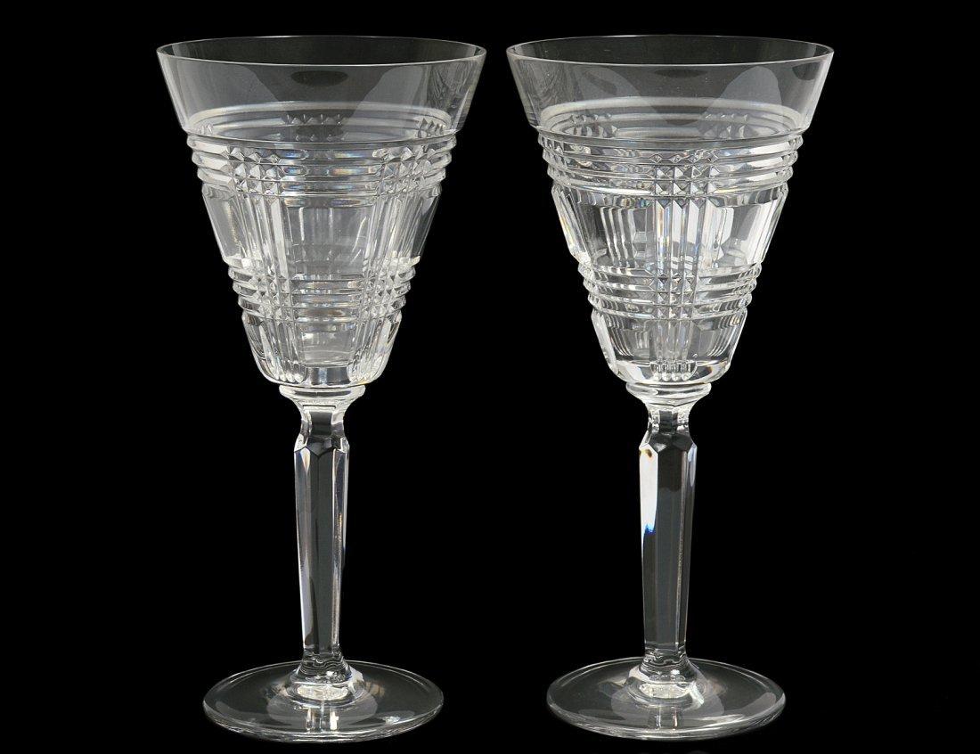 SET OF TWELVE RALPH LAUREN CRYSTAL WINE GLASSES