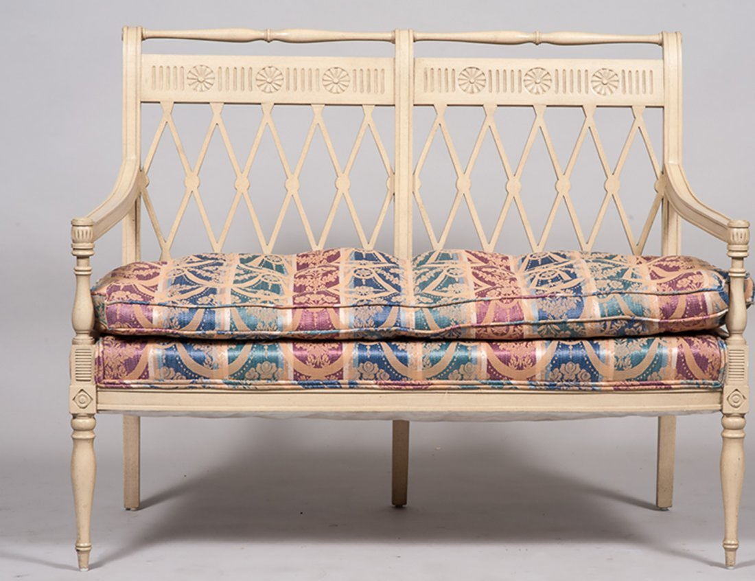 CHARLES X STYLE PAINTED LOVE SEAT